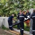 Erstmaliger Aufbau Hochwasserschutz